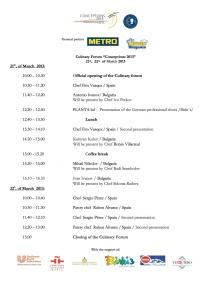 Programme Culinary forum ENG